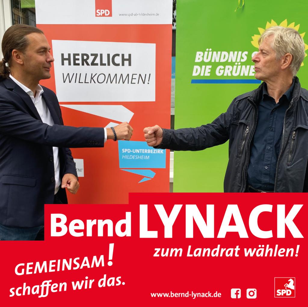 Bernd Lynack und Klaus Schäfer (Vorsitzender Grüne KV Hildesheim)