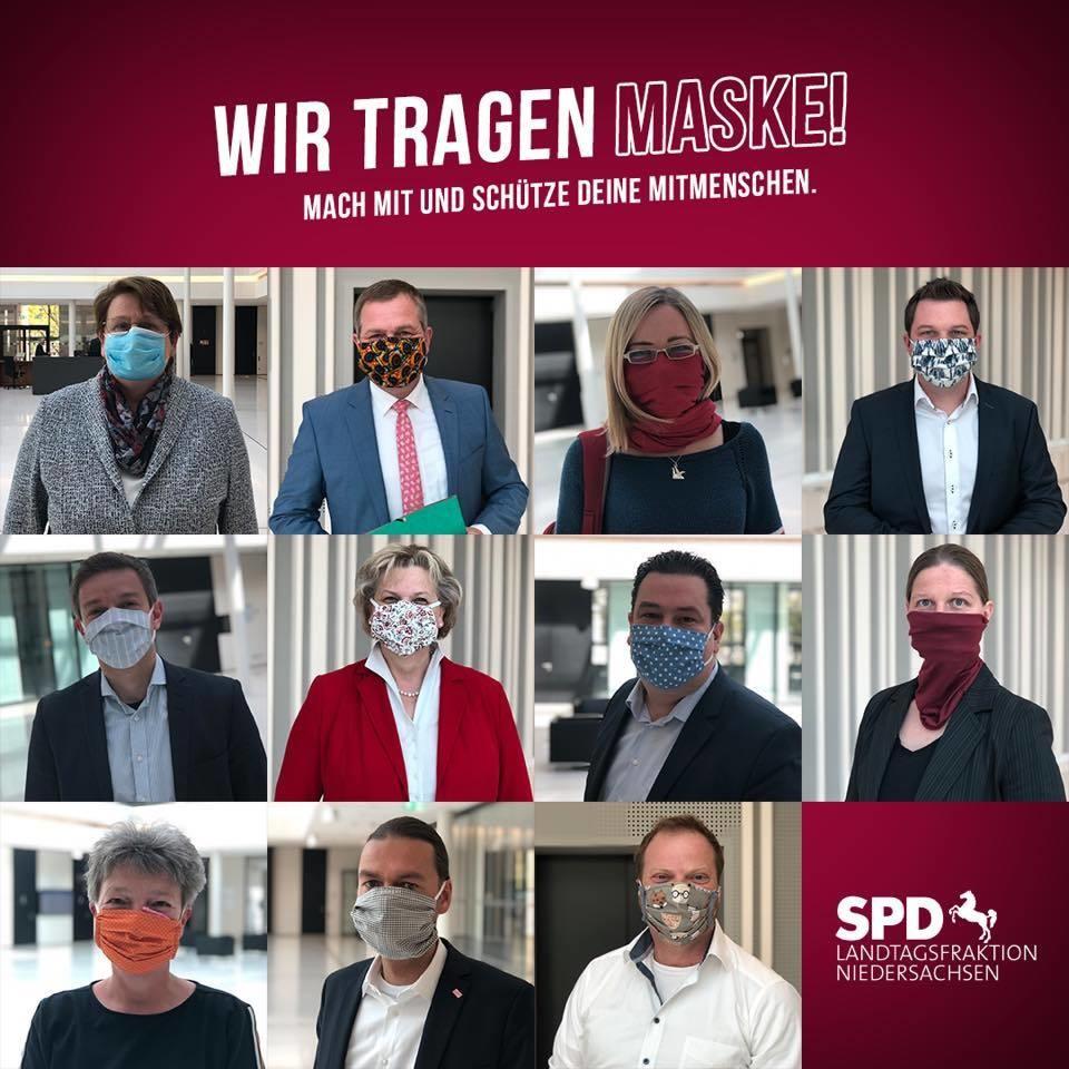 Wir tragen Maske!